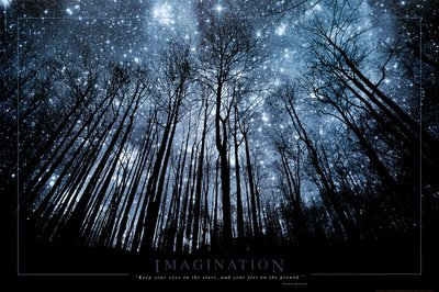Imagination poster Albero & Cielo stellato (91,5cm x 61cm)