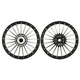 Autofy Porado 21 Spokes Black and Chrome Alloy Wheels (Set of 2)
