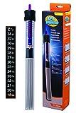 BPS® Chauffage Submersible pour Aquarium avec Thermomètre Numérique Adhésif 150W 26.5cm BPS-6053
