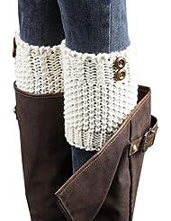 Malloom® punto Párrafo Breve gruesos aguja calentadores de la pierna Calcetines cubierta Boot polainas