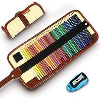 Lápices De Colores Set, 36 Kit De Dibujo De Lápiz De Color Con Roll Up Canvas Caso Para Adultos y Niños (Khaki)