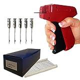 Etikettiermaschine Set: Etikettierpistole A&J 90 S | Heftpistole + 5.000 Kunststoff Tag Pins 25 mm Standard + 5 Nadeln Standard | HUTNER