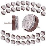 Herefun 80 Piezas Almohadilla de Fieltro para Sillas, Clavo de Almohadilla de Mueble, Fieltro Patas Sillas Protectores, 24 mm