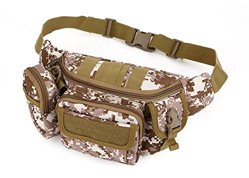 Katech Multifunktional Taille Pack Damen und Herren Outdoor Running Taschen Militär Tactical Taille Tasche für Wandern, Camping und Trekking Desert digital