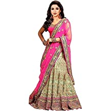 Fast Fashions Women's Pink Color Embroidered Lehenga Choli (Pink_Free Size)
