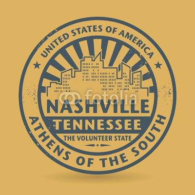 Von Bild Nashville (Alu-Dibond-Bild 100 x 100 cm: