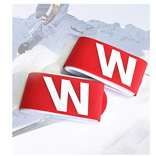 LXQ (5 Farben - 5 Teile) - Skibindung, Skiband, Skisportgürtel - Schützen Sie Ihre Skier auf der Durchreise Touch Fasteners Skibindungen Schützen Sie Ihre Skier vor den Pisten,Pink
