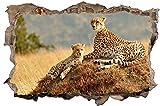 Gepard Herde Afrika Safari Wandtattoo Wandsticker Wandaufkleber D0297 Größe 70 cm x 110 cm