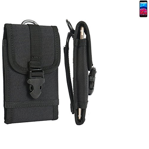 K-S-Trade Handyhülle für Archos Core 60S Gürteltasche Handytasche Gürtel Tasche Schutzhülle Robuste Handy Schutz Hülle Tasche Outdoor schwarz