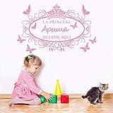 wukongsun Stickers muraux personnalisés Bricolage Vinyle Autocollant Amovible Chambre Art Papier Peint décoration de la Maison des Enfants Rose 40X65CM