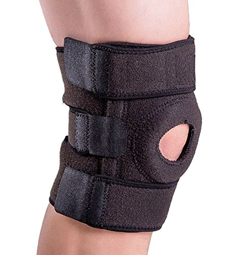 Knee Support, iAmotus Adjustable Neoprene Knee Brace, Open Compression Knee Sleeve - Arthritis Pain Relief & Sports Injury Rehabilitation-Support Running, Jogging, Walking and Recovery