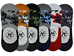 Me Stores Men's Solid Socks Loafer Socks With anti-skit silicon support (Pack Of 6) (Multicolor)