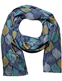 Women Scarf Leaves Print Design Lightweight Scarves for Lady