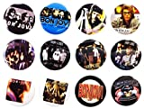The Bigger vivider 4,4 cm Viel 12 Awesome Pin Button Album Bon Jovi Jon David
