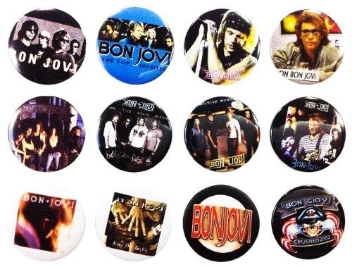 (The Bigger vivider 4,4cm Viel 12Awesome Pin Button Album Bon Jovi Jon David)