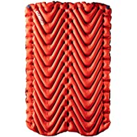 Klymit Colchoneta Unisex térmica Doble en V para Dormir, para Camping, Unisex, Insulated Double V New, Orange/Char Black, XL