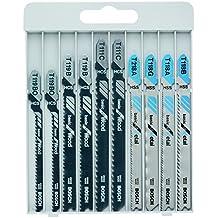 Bosch 2607010630 - Hojas de sierra de calar Basica para Metal y Madera - Juego de 10 unidades