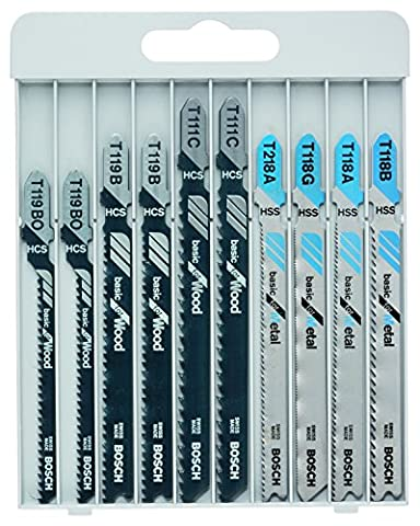 Bosch Assortiment de lames de scie sauteuse Basic pour métal et bois 10 pièces 2607010630