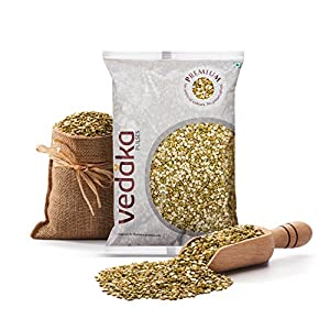 Amazon Brand – Vedaka Premium Green Moong Split / Chilka, 1 kg