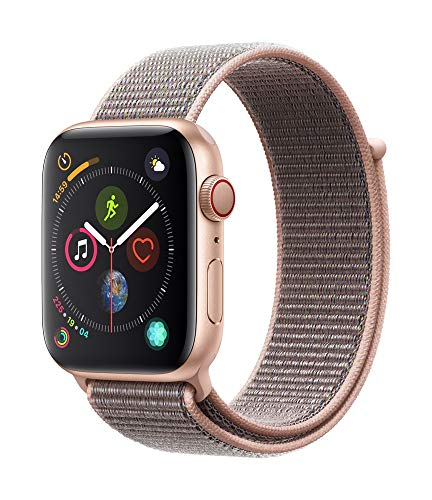 Apple Watch Series 4 (GPS + Cellular, 44mm) - Gold Aluminium Case with Pink Sand Sport Loop