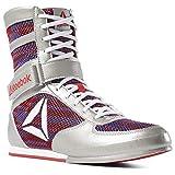 Reebok Boxing Boot FW, Zapatillas de Artes Marciales para Hombre, Multicolor (Silver/Primal Red/Crushed Cobalt/White 000), 44 EU