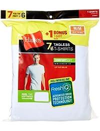 Hanes Mens FreshIQ ComfortSoft Men's Crewneck T-Shirt (Bonus Pack) Solid Short Sleeve Undershirt