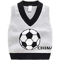 GKKXUE Jersey de jersey con cuello en V para niños Jersey de jersey de
