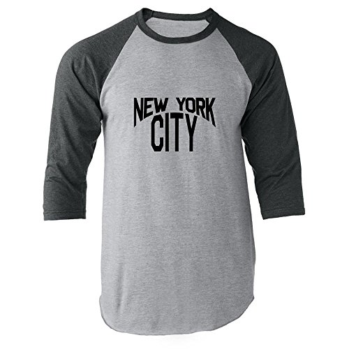 Pop Threads New York City Lennon Classic Raglan Jersey T-Shirt by