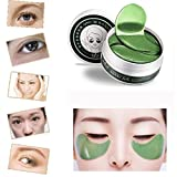 Bescita 60 Pcs Wholesale Green Tea Powder Gel Collagen Augenpads Eye Mask Masks Sheet Moisturiser Pad