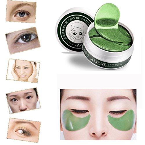 Bescita 60 Pcs Wholesale Green Tea Powder Gel Collagen Augenpads Eye Mask Masks Sheet Moisturiser Pad