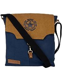 Almolfa Unisex Cotton Canvas Messenger/Shoulder Bag