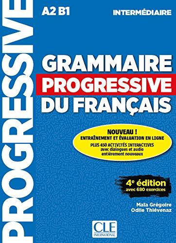 Grammaire progressive du français - Niveau intermédiaire - 4ème édition - Livre + CD + Livre-web 100% interactif par Maïa Grégoire