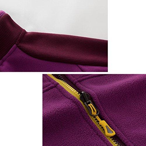 Zhhlaixing Unisex Windproof Fleece Body Warmer Jackets Mens Womens Zipper Respirant Running Outwear De plein air Sports Rose red-Womens