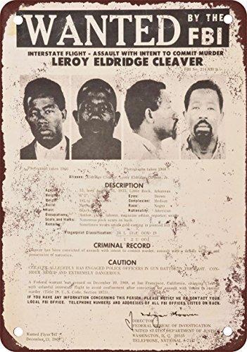 1968Eldridge Hackmesser Wanted Poster Vintage Metall Schilder 20,3x 30,5cm -