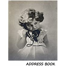 Address Book:: Large print address book. Vintage girl with phone cover, 8.5 x 11 size, alphabetical with over 300 spaces for contact names, phone numbers, addresses, emails, birthdays and more.