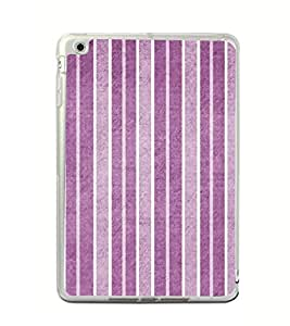 Fiobs Designer Back Case Cover for Apple iPad Mini 4 (4th Gen) (Lines Patterns Purple Violet White )