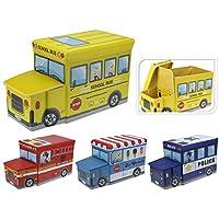 Preisvergleich für Unbekannt Kinder Spielzeug-Box, Truhe, Aufbewahrungsbox, Hocker, Zusammenklappbar, Fire Truck