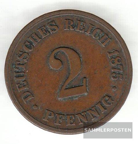 Deutsches Reich Jägernr: 2 1875 A schön Bronze 1875 2 Pfennig Kleiner Reichsadler (Münzen für Sammler)
