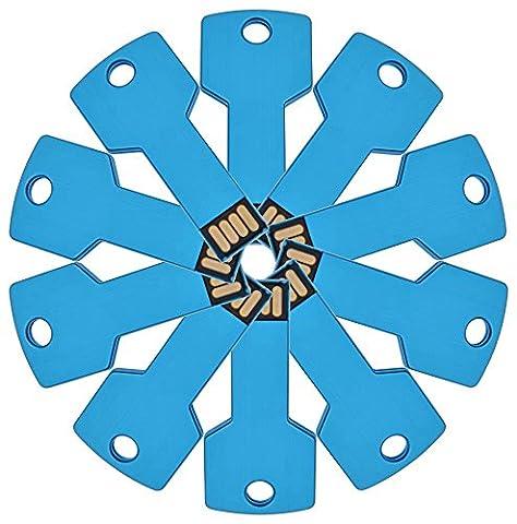 FEBNISCTE 10 Pack Key Shape USB 2.0 Memory Stick 8GB Blue Pen Drive