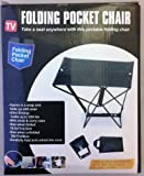 Folding Portable Pocket Chair with carry pouch