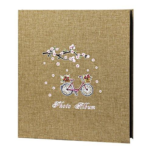 FOOHAO- Album photos de coton minimaliste, Album auto-adhésif bricolage créatif, 20 pages (40 Surface)