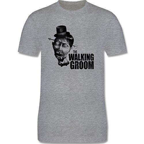 JGA Junggesellenabschied - The Walking Groom - Zombie JGA - Herren Premium T -Shirt Grau