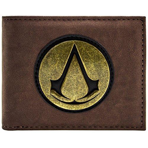 en Original Retro Symbol Logo Braun Portemonnaie Geldbörse (Assassins Creed Black Flag Kostüm Für Kinder)