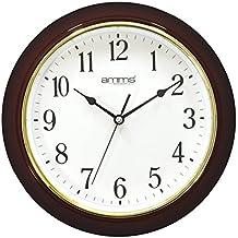 Amms GD260006 - Reloj de pared grande, llamativo, clásico, tradicional, movimiento continuo silencioso, cuarzo