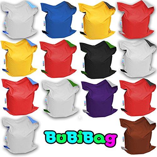 Sitzsack Sitzkissen Bean Bag Rechteck BuBiBag Größe 160 x 145 cm Indoor und Outdoor (2 Wunschfarben kombiniert)