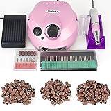 30000RPM professionale elettrica di chiodo e strumenti di chiodo kit aghi rettifica professionali cl'uso domestico del chiodo,fresa per unghie + 30 fresa Punte + 300 levigatura bande Rosa