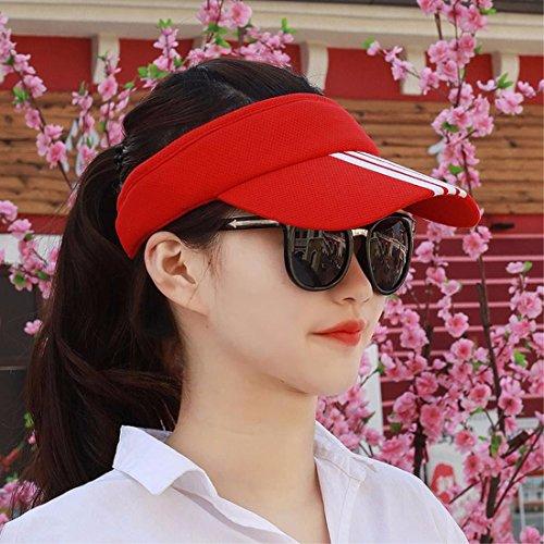 SAIBANGZI Sommer Männer und Frauen allgemeine Gemeinkosten hat Sonnenschirm hat Paar top hat Sun Sun Helm Helm. gules