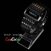 091db59ffb20 CursOnline® Reloj Iron Man Conception Dark precioso pantalla LED animado  New  16 Luxury LED azul pulsera de acero maciza Steel Watch col562 – 15