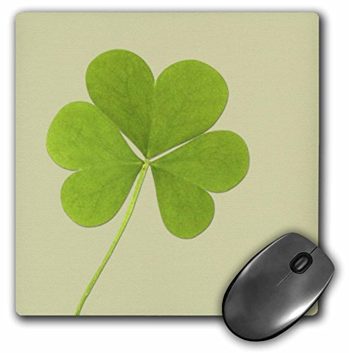 3dRose LLC Mauspad, 20,3 x 20,3 x 0,6 cm, Grünes Kleeblatt, irische Kunst, St. Patrick's Day (mp_39339_1) (St Patricks Kunst)