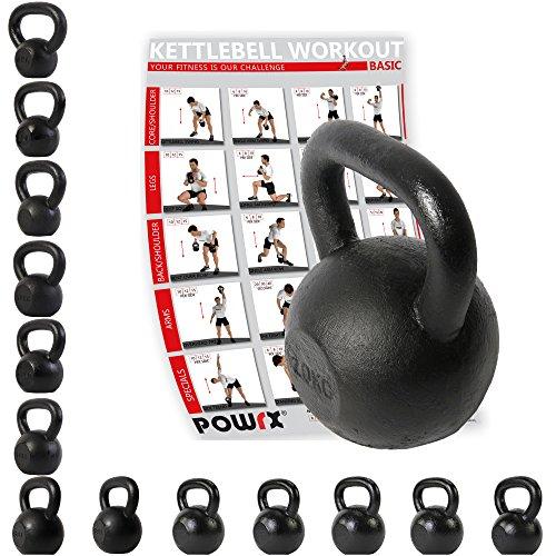 POWRX Kettlebell 4-30 kg Kugelhantel Guss (20 kg)